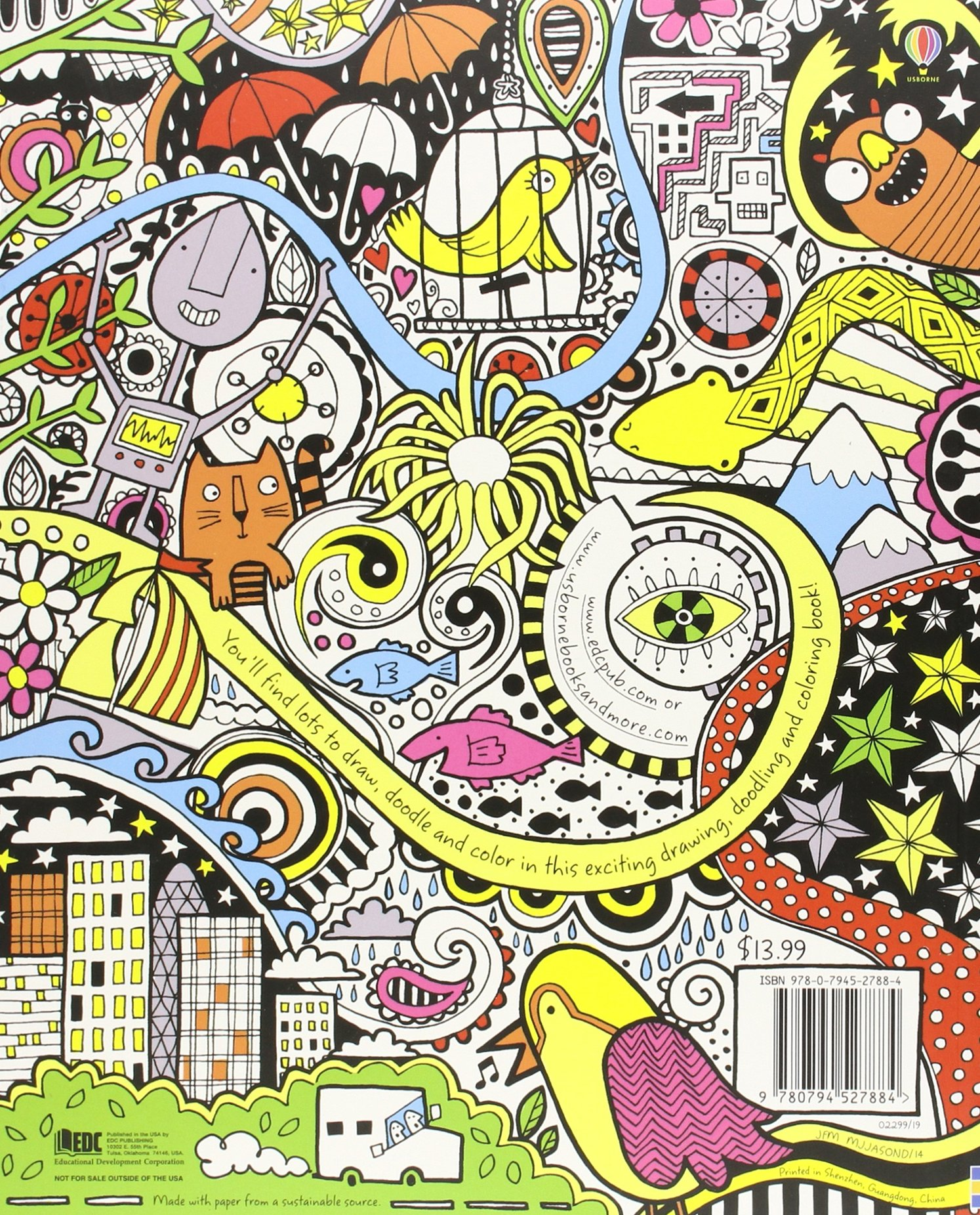 the usborne book of drawing doodling and coloring fiona watt erica harrison katie lovell 9780794527884 amazoncom books - Doodle Coloring Book