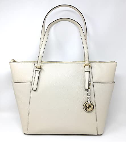 cd3dfeac88e0 Amazon.com  Michael Kors Jet Set Item Large East West Top Zip Leather Tote  (Ecru)  A Little Bit Of Fashion