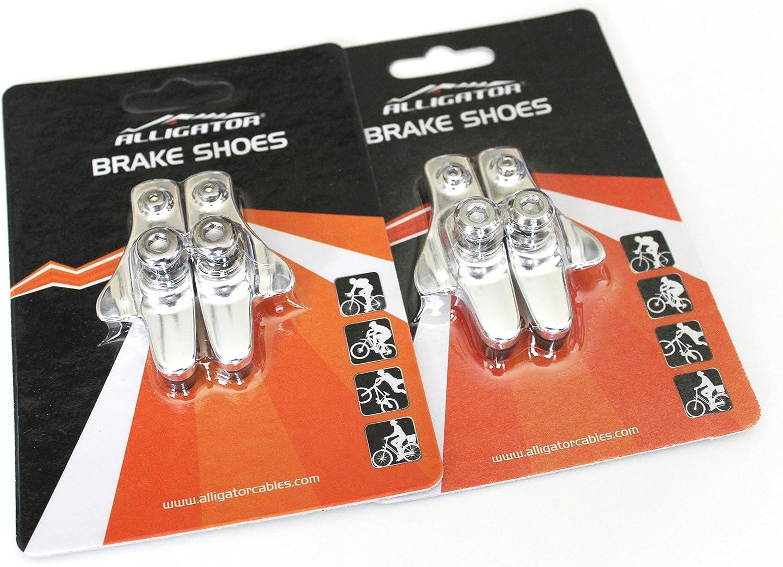 Alligator Road Bicycle Bike brake pads shoes catridge for Shimano Silver