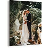 Canvas Prints with Your Photos 11x14 Inch, Personalized Canvas Wall Art Wedding Baby Dog Family Pictures Home Decor…