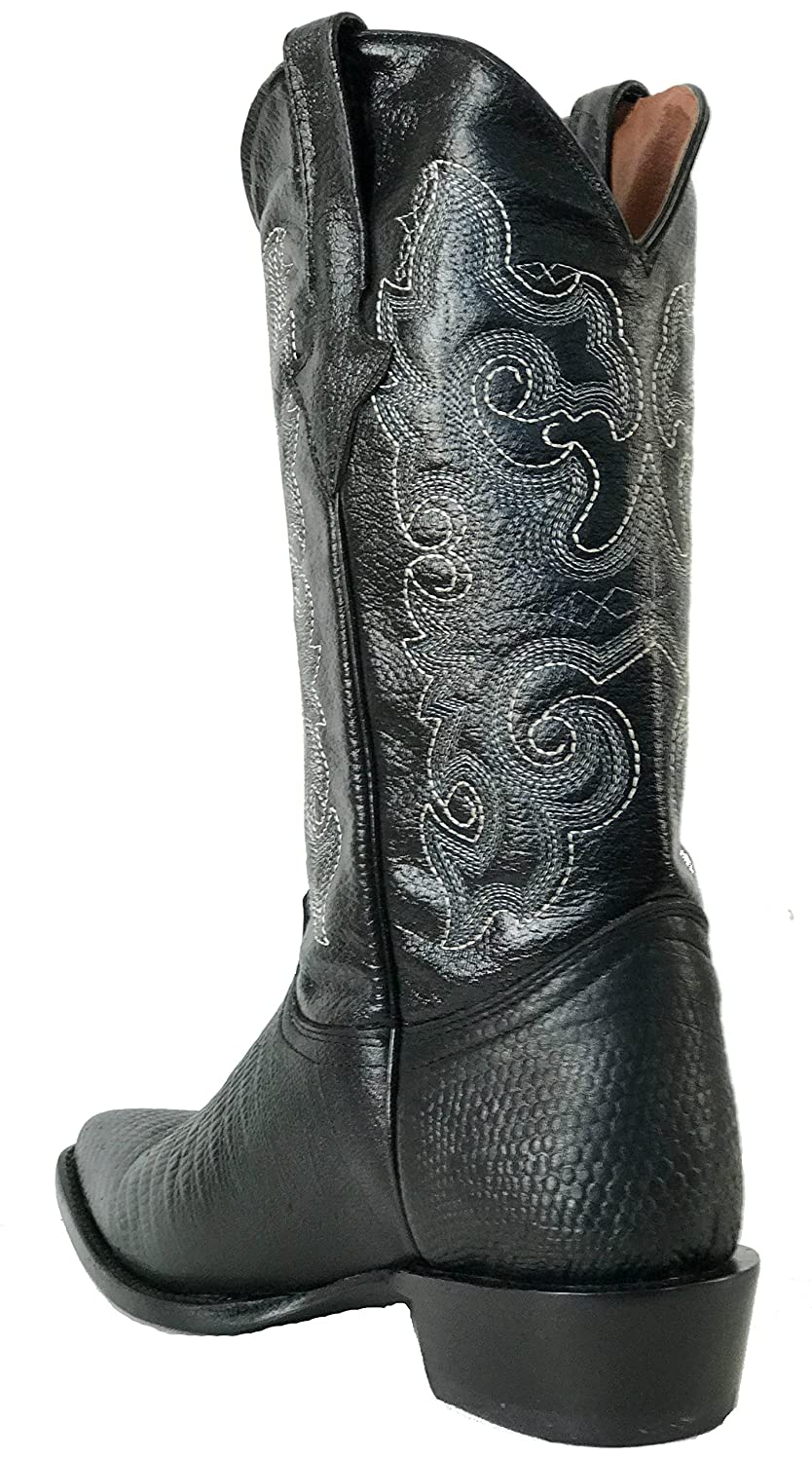Hand Made Mens New Leather Exotic Lizard Design Cowboy Western Boots J Toe Black
