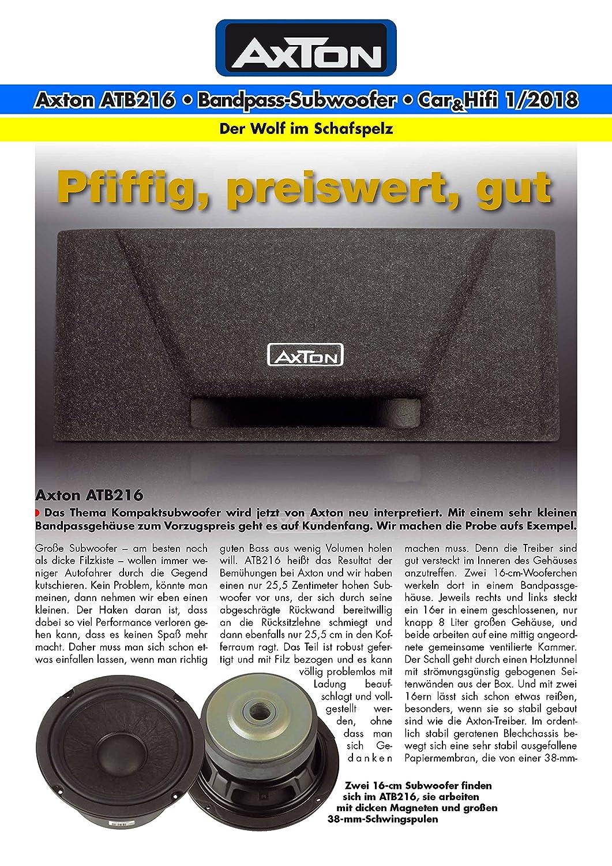 AXTON ATB216 kraftvoller Bandpass-Subwoofer mit 2 x 16 cm Treibern und kompakten Abmessungen