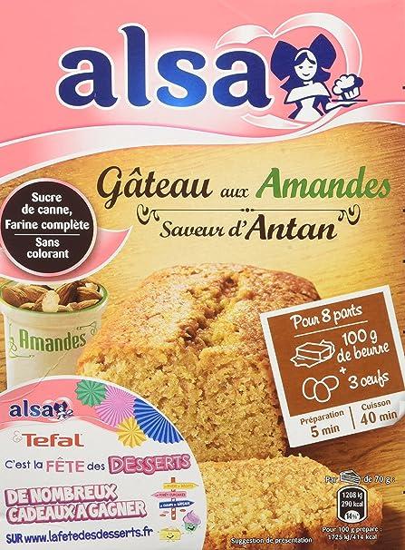 Alsa Préparation Pour Gâteau Aux Amandes Saveur Dantan 300g Lot