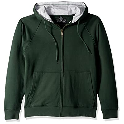 AquaGuard Men's Rugged Wear Thermal-Lined Full-Zip Hoodie, for Grn/HTH Gr, Small at Men's Clothing store