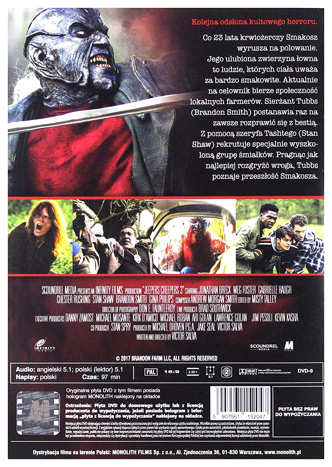 Jeepers Creepers 3: Cathedral DVD English audio: Amazon co