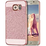Galaxy S6 Case, Imikoko® Luxury Glitter Sparkle Bling Designer Case [Slim Fit, Hard Back Cover] Shinning Fashion Phone Case Cover For Samsung Galaxy S6 5.1'
