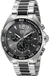 TAG Heuer Mens Formula 1 Swiss Quartz Stainless Steel Dress Watch, Color:
