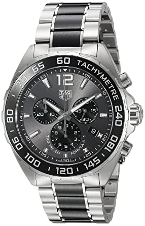 6392b93d060 Image Unavailable. Image not available for. Color  TAG Heuer Men s  Formula  1  Swiss Quartz Stainless Steel Dress Watch ...
