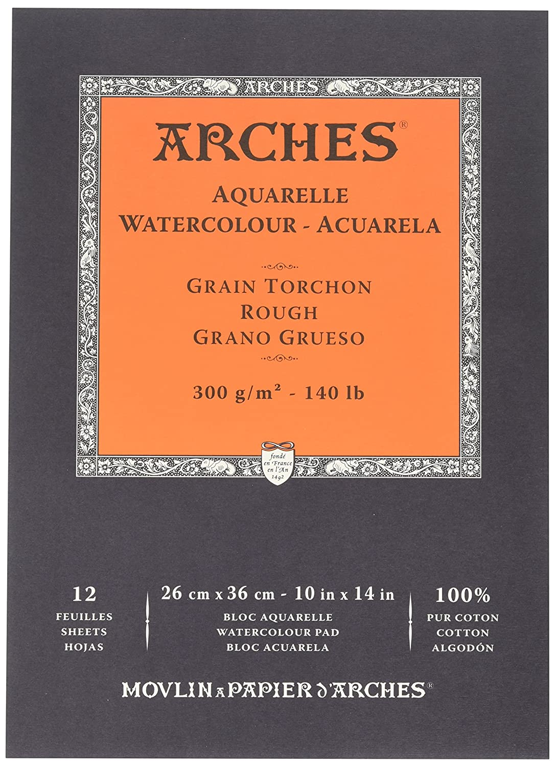Winsor & Newton 1795103 Arches Watercolor Hot Pressed Paper Pad, 10 x 14 10 x 14