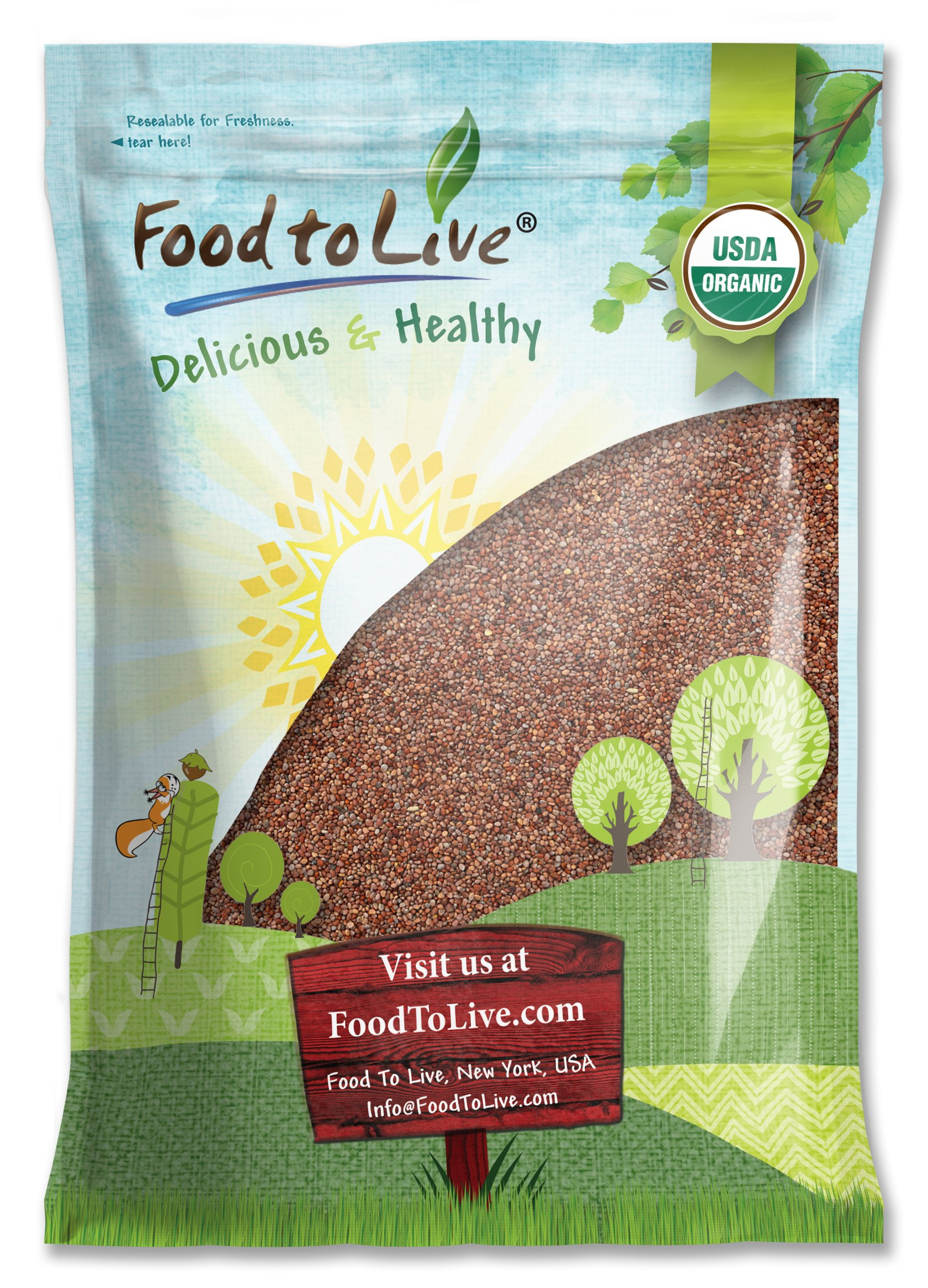 Food to Live Certified Organic Radish Seeds for Sprouting (15 Pounds) by Food to Live