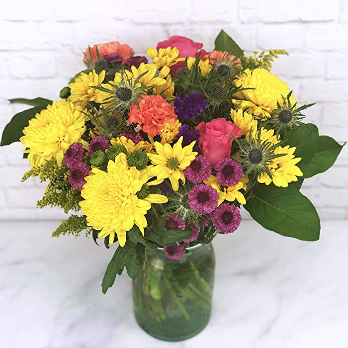 Falcon Farms Inc Melody of Color Bouquet (Free VASE)