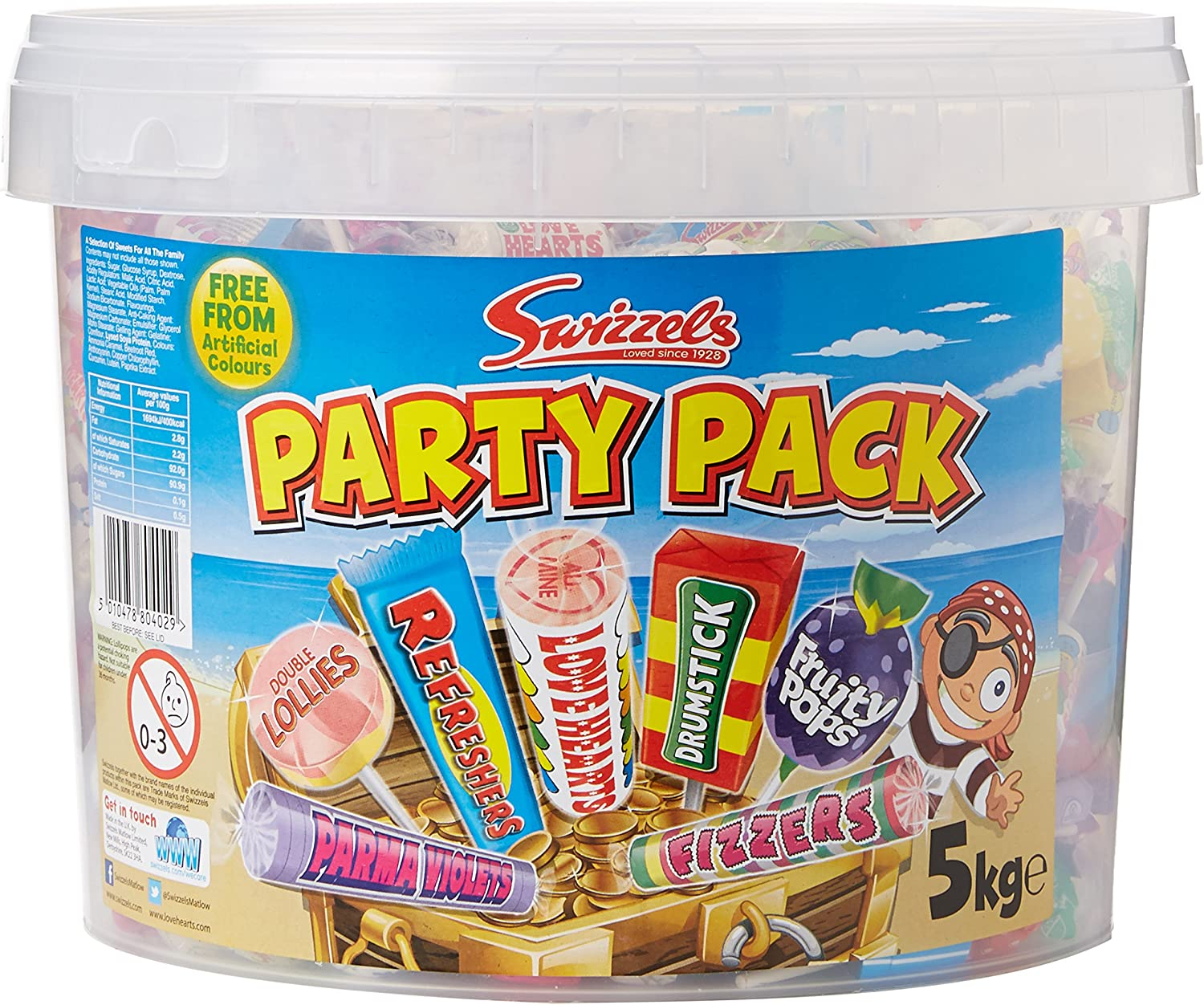 Swizzels Matlow Party Mix - 5kg bucket of retro childhood sweets