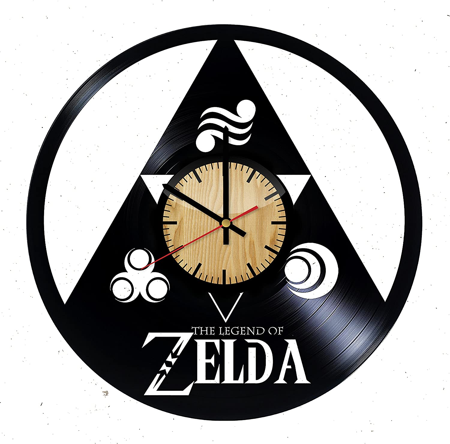 Get unique bedroom or living room wall decor The Legend of Zelda Emblem Design HANDMADE Vinyl Record Wall Clock Gift ideas for him and her