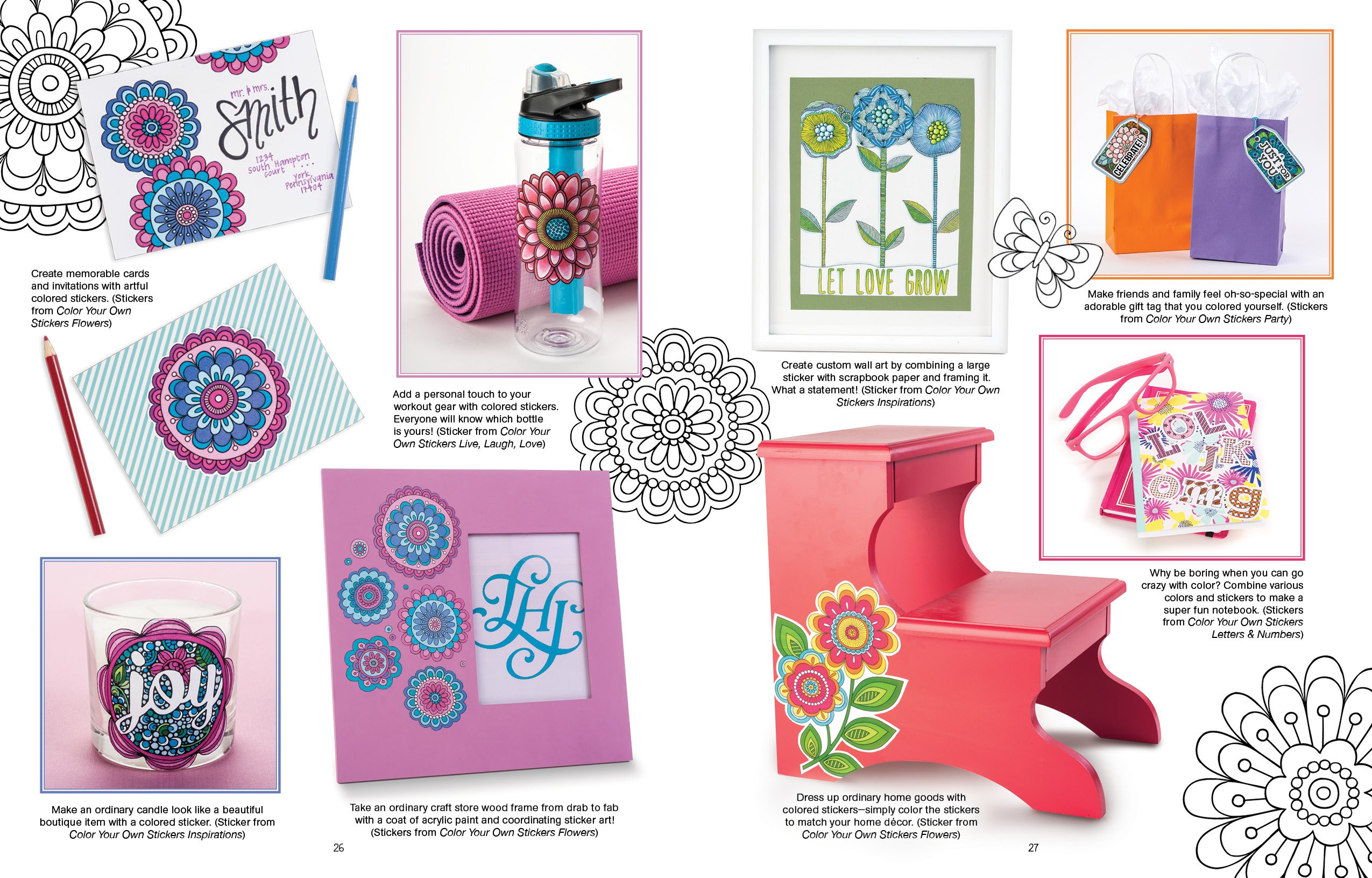 Color Your Own Stickers Flowers Just Color Peel Stick Jess - Design your own stickers