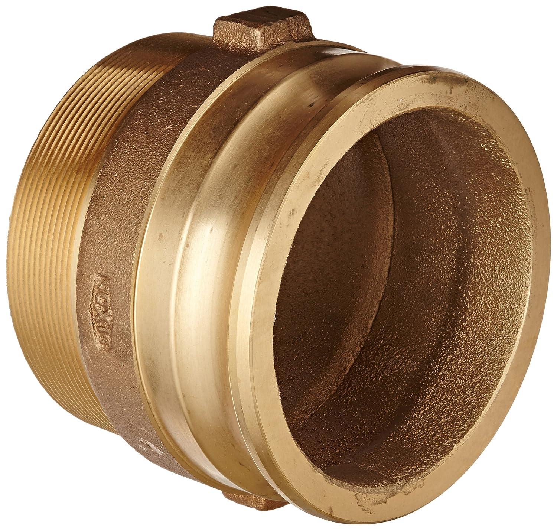 Dixon 125-F-BR Brass Boss-Lock Type F Cam and Groove Hose Fitting 1-1//4 Plug x 1-1//4 NPT Male