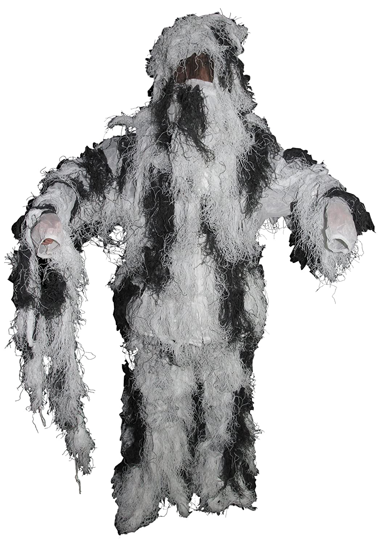 MFH Ghillie Suit Woodland - Traje de camuflaje (chaqueta, pantalones, gorro) 07703Z