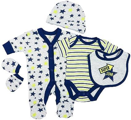 Baby Erstausstattungsset Geschenkset 8-tlg Jungs    blau Nb bis 6 Monate