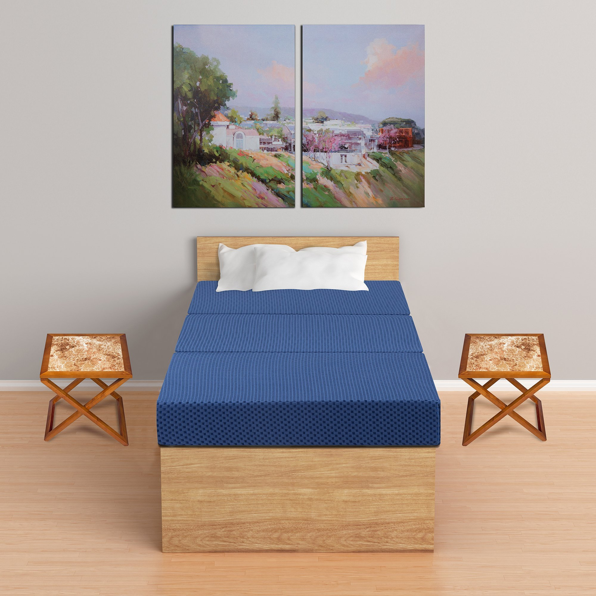 Primasleep Tri Fold Memory Foam Mattress Sofa Bed Guest
