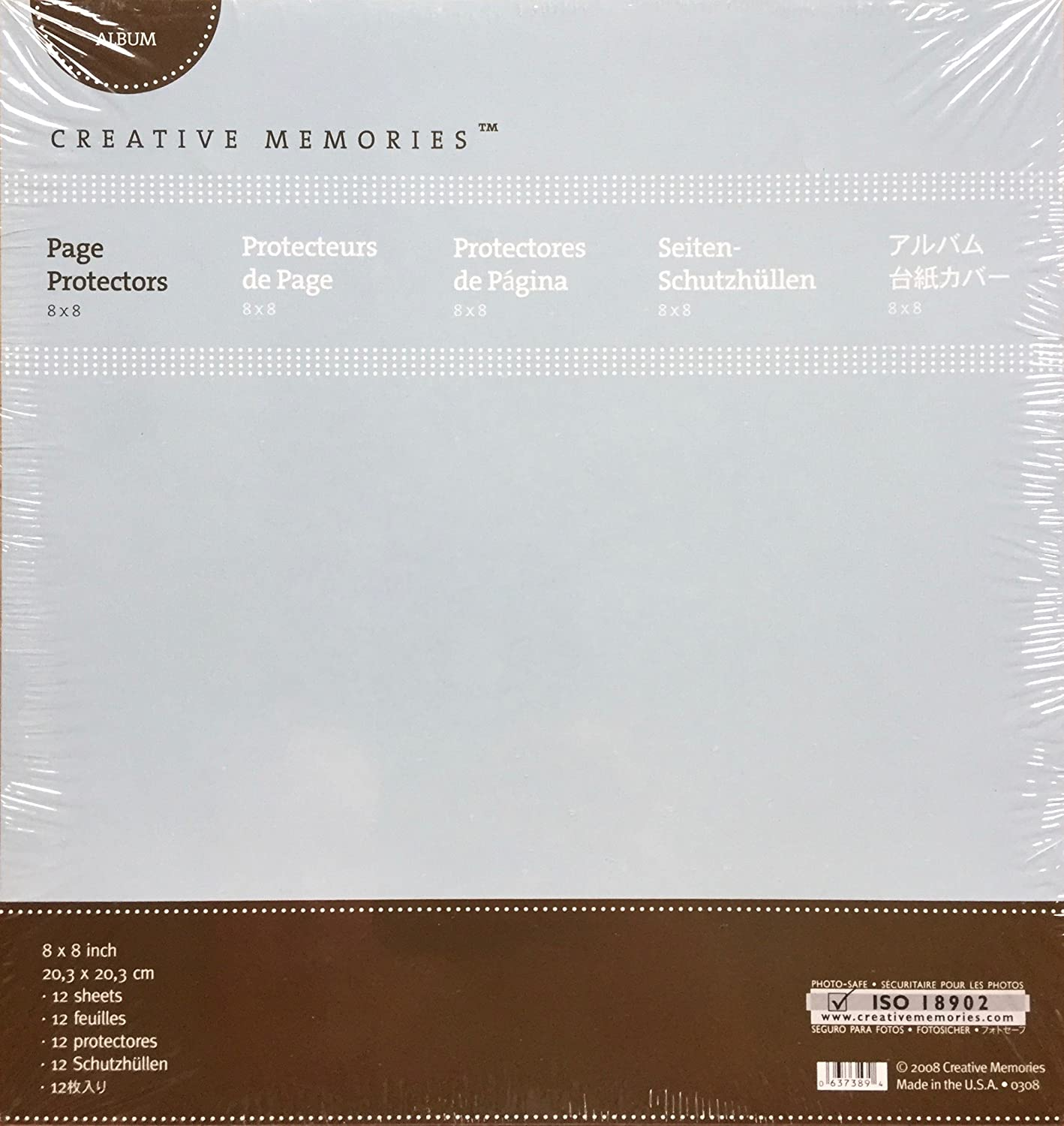 8x8 Page Protectors (12/pk) by Creative Memories 654481