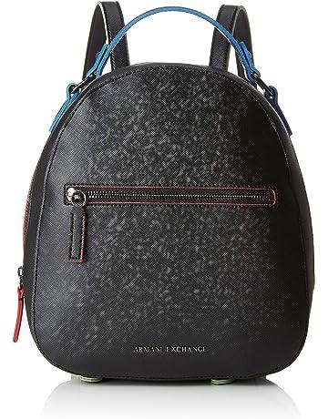 21ddc92ced ARMANI EXCHANGE Zip Backpack - Zaini Donna, Nero (Black), 26.5x8.
