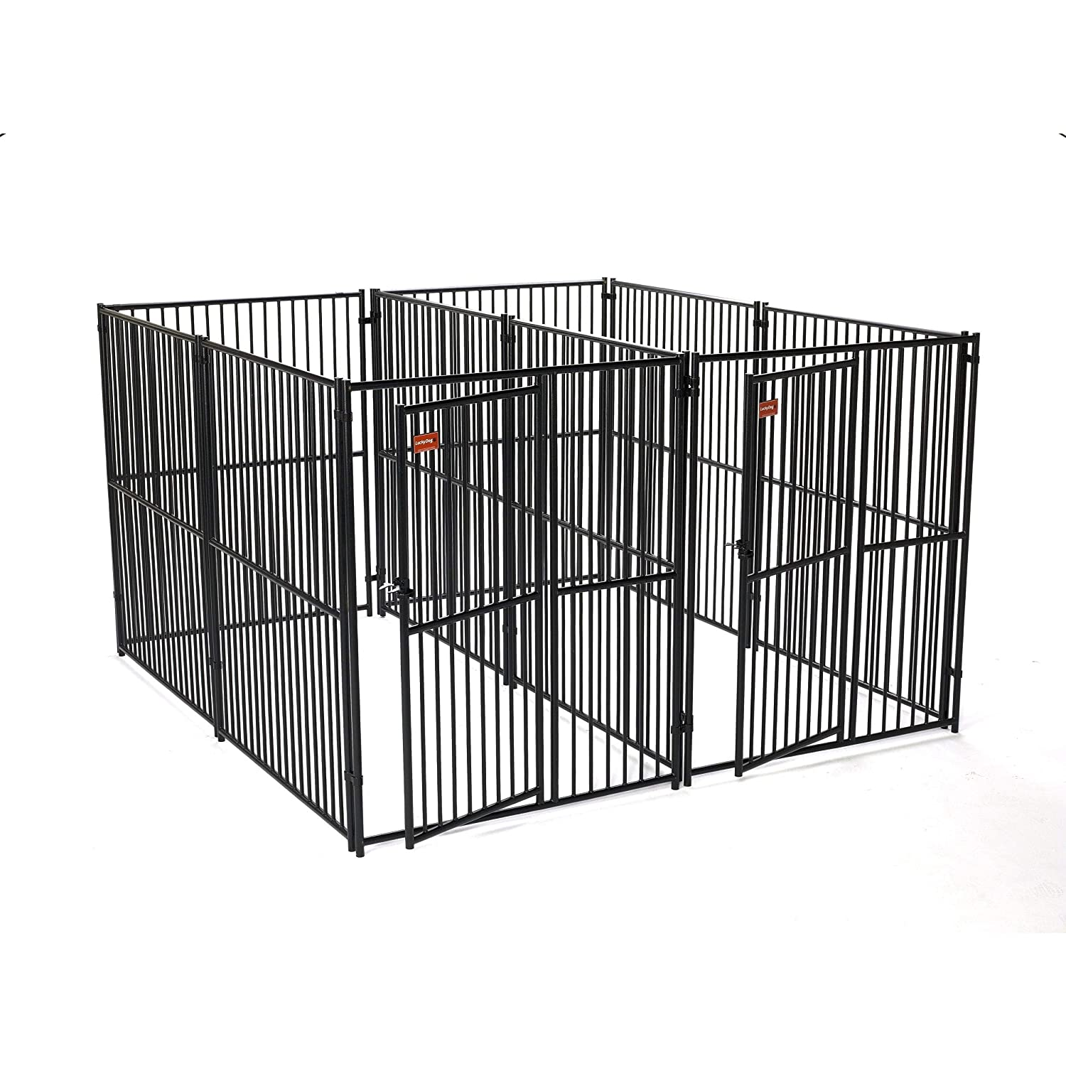 Lucky Dog European Style Modular 2 Run (side by side) Kennel
