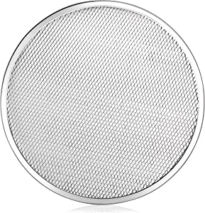 New Star Foodservice 50981 Seamless Aluminum Pizza Screen, Commercial Grade, 18-Inch, Pack of 6