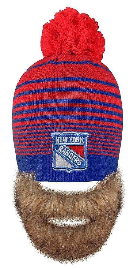 b93d198cbda denmark lyst 47 brand womens new york rangers fiona pom knit hat in blue  8a21b b36af  discount code for nhl new york rangers mens bertram faux beard  knit ...