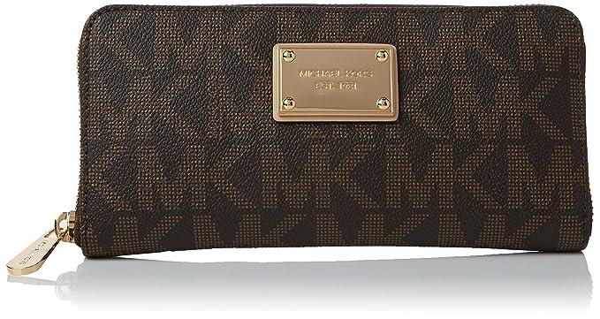058b35637ef3f Amazon.com  MICHAEL Michael Kors Mk Logo Zip Around Continental ...