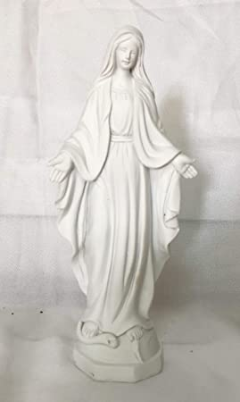 Estatua de resina de virgen miraculeuse