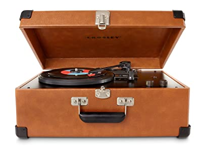 Crosley CR49-TA Traveler Turntable with Stereo Speakers and Adjustable Tone Control
