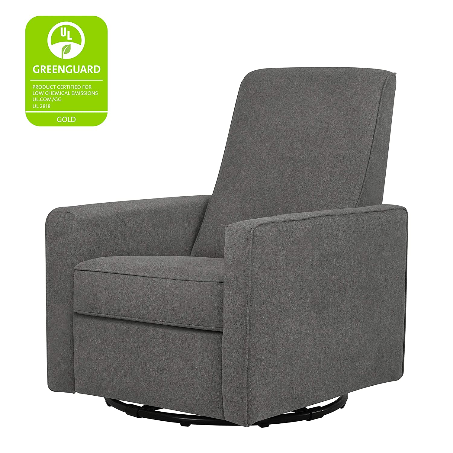 Peachy Davinci Piper Upholstered Recliner And Swivel Glider Dark Grey Pdpeps Interior Chair Design Pdpepsorg