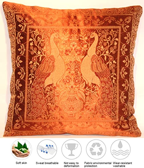 Indian Silk Pillow Cover Decorative Pillow Cover Cushion Cover Beauteous Indian Silk Decorative Pillows