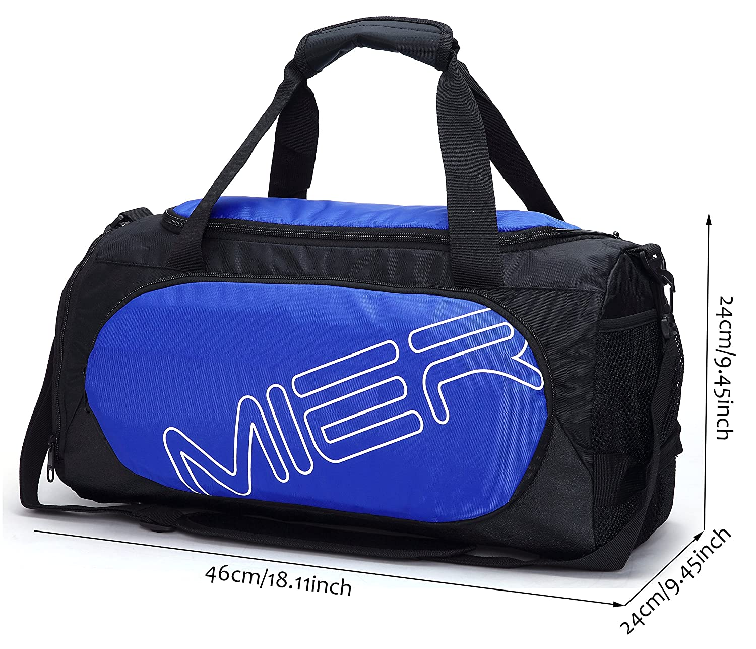 MIER Gym Bag Sports Duffel for Men and Women with Shoe Compartment ... 4a79a70184295