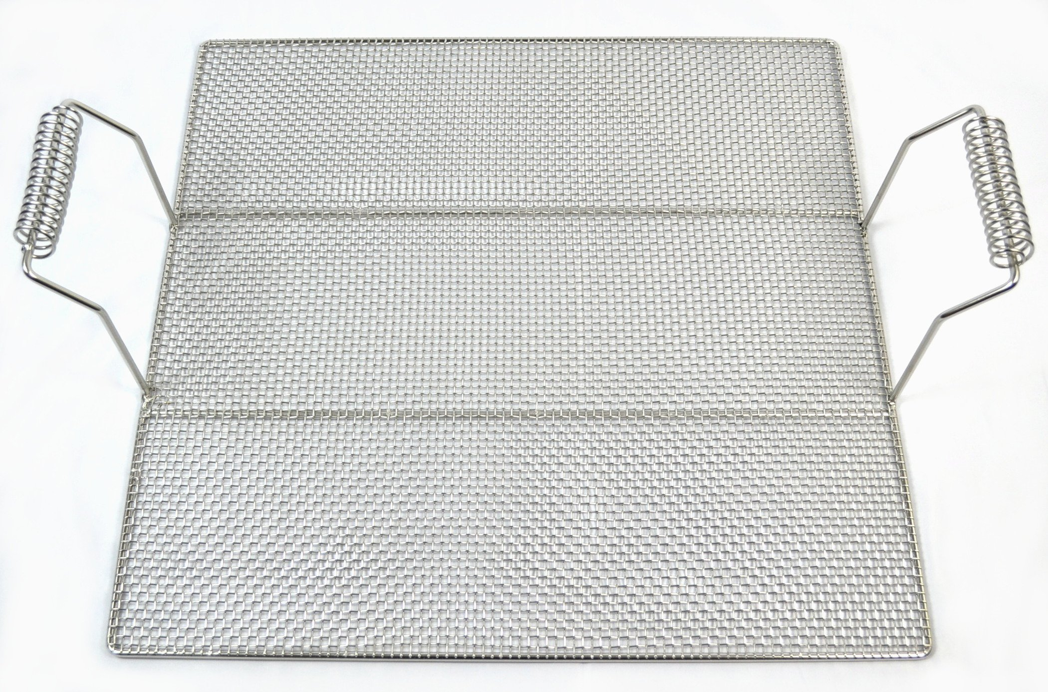 Stainless Steel Wire Mesh Grid with Handles, 23'' x 23'' (1)