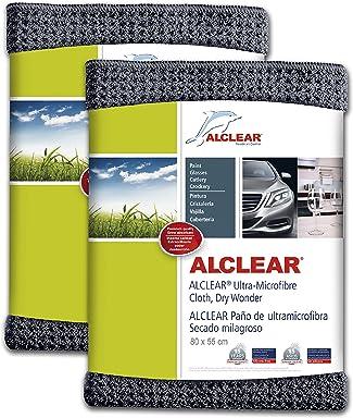 ALCLEAR 820901M Ultra-microfiber Cloth Dry Wonder Maxi after car wash. Grey. Size