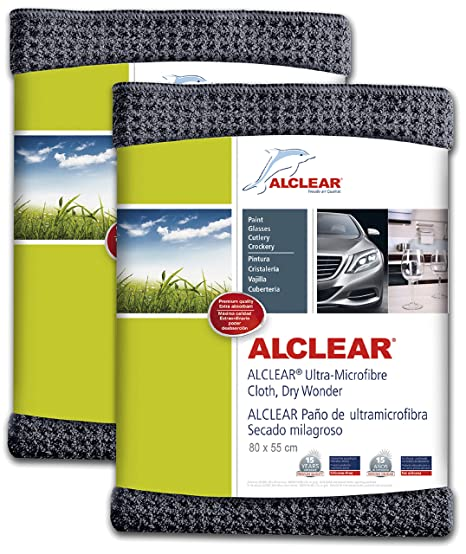ALCLEAR 820901M Ultra-microfiber Cloth Dry Wonder Maxi after car wash. Grey. Size