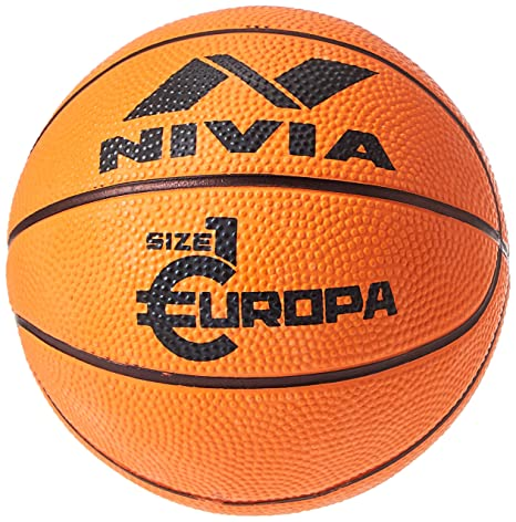 Buy Nivia Europa Rubber Basketball Size 7 Color Black Yellow Ideal For Training Match Online At Low Prices In India Amazon In