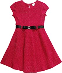 be28d643ee3 Sweet Heart Rose Girls  Little Belted Jacquard Fashion Dress