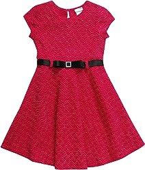 166efe871af Sweet Heart Rose Girls  Little Belted Jacquard Fashion Dress