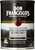Don Francisco's 100% Colombia Supremo, Sweet and Floral Premium 100% Arabica Coffee Beans, Medium Roast, Ground, 12-Ounce Can