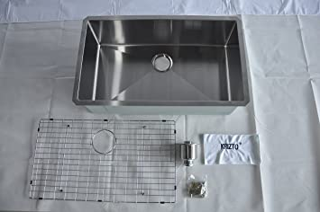 Stainless Steel Kitchen Sink Accessories Krizto 32 inch single bowl undermount 16 gauge stainless steel krizto 32 inch single bowl undermount 16 gauge stainless steel kitchen sink 10 inch deep workwithnaturefo