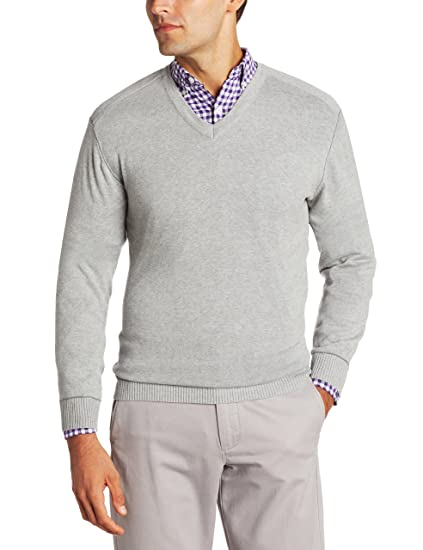 Amazoncom Cutter Buck Mens Broadview V Neck Sweater Clothing