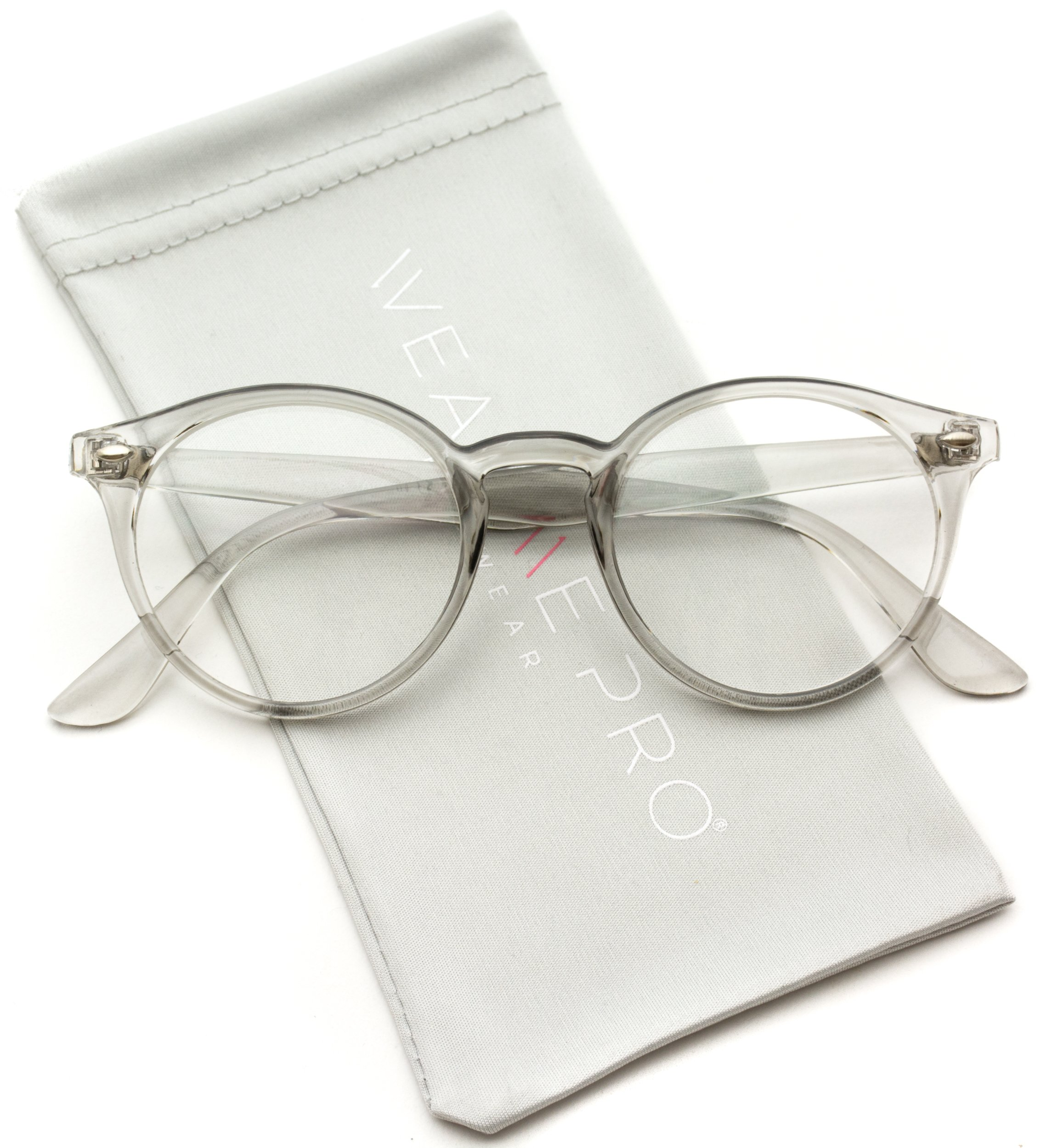 WearMe Pro - Clear Lens Semi Transparent Clear Frame Colorful Glasses by WearMe Pro
