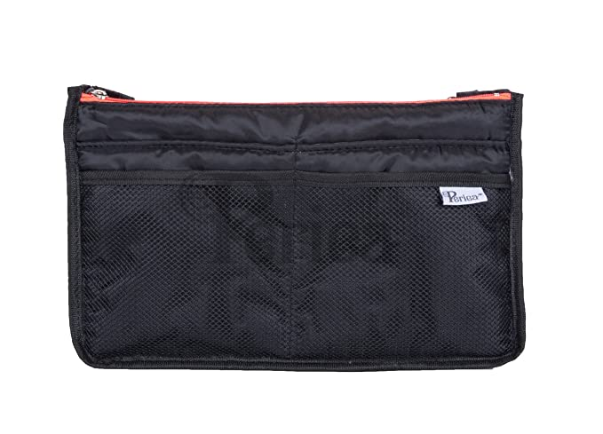 150 opinioni per Periea Organizzatore di borsette- Chelsy- Nero con cerniere al neon- 3 colori e