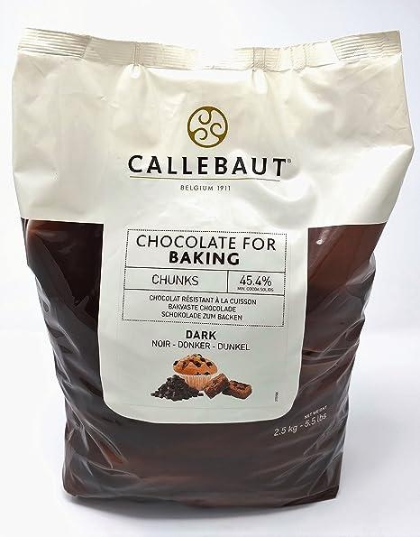 Callebaut - Trocitos de Chocolate Negro para Hornear 2,5kg ...