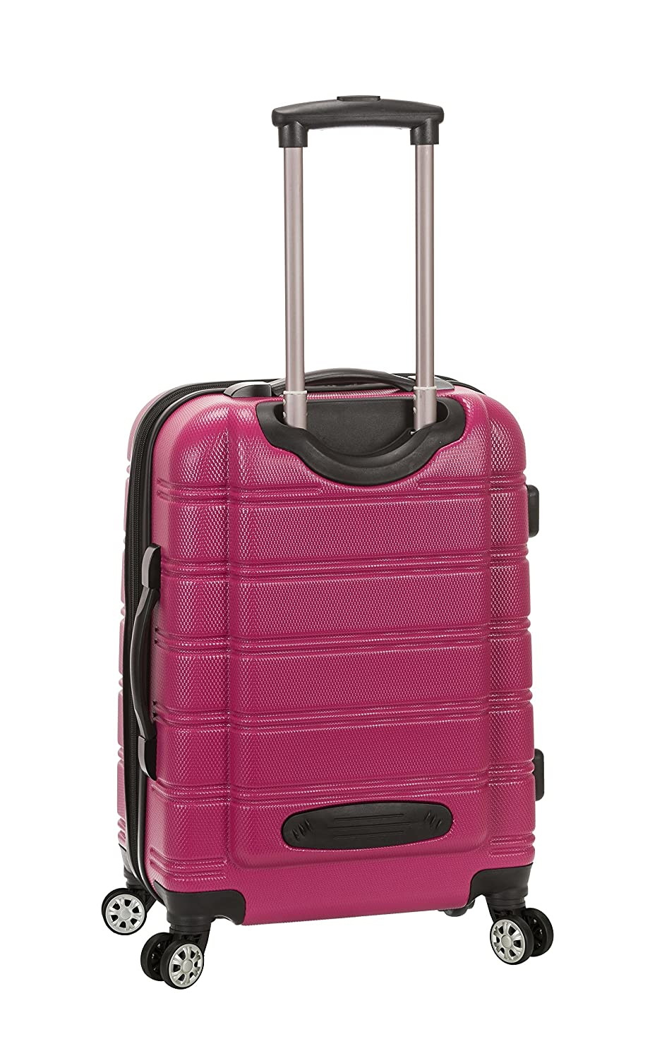 One Size Grey ROCKLAND Melbourne 20 Inch Expandable ABS Carry On Luggage