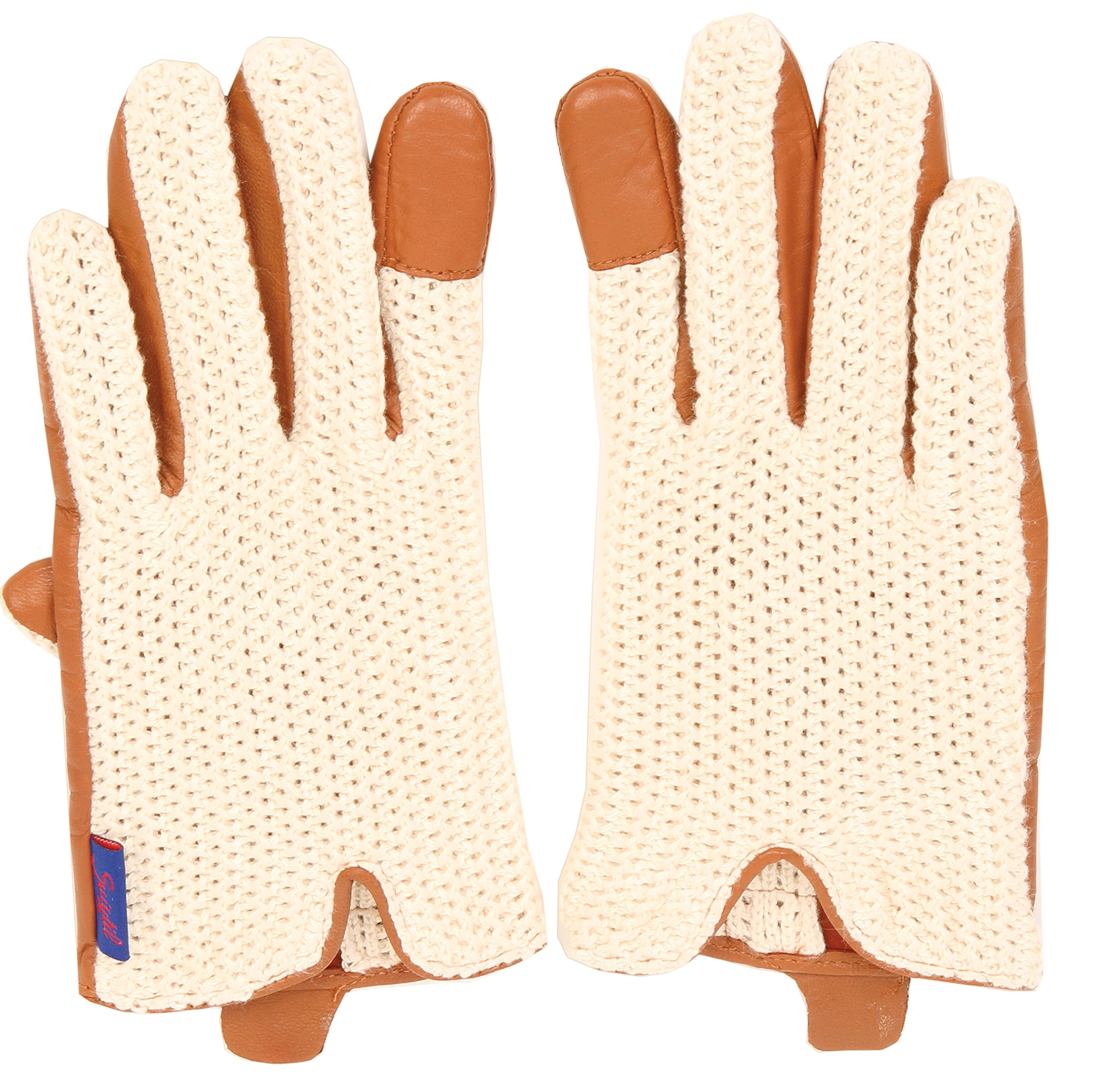 Suixtil Grand Prix Race lamb leather & knitted cotton Driving Gloves, Cognac, M by Suixtil (Image #3)