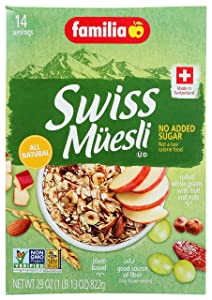 Familia Swiss Muesli Cereal, No Added Sugar, 29-Ounce Boxes (Pack of 6)