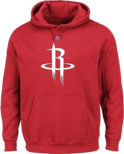 bb4da61fa27 NBA Houston Rockets Men's Logo II Long Sleeve Fleece Pullover Hoodie,  Small, Athletic Red