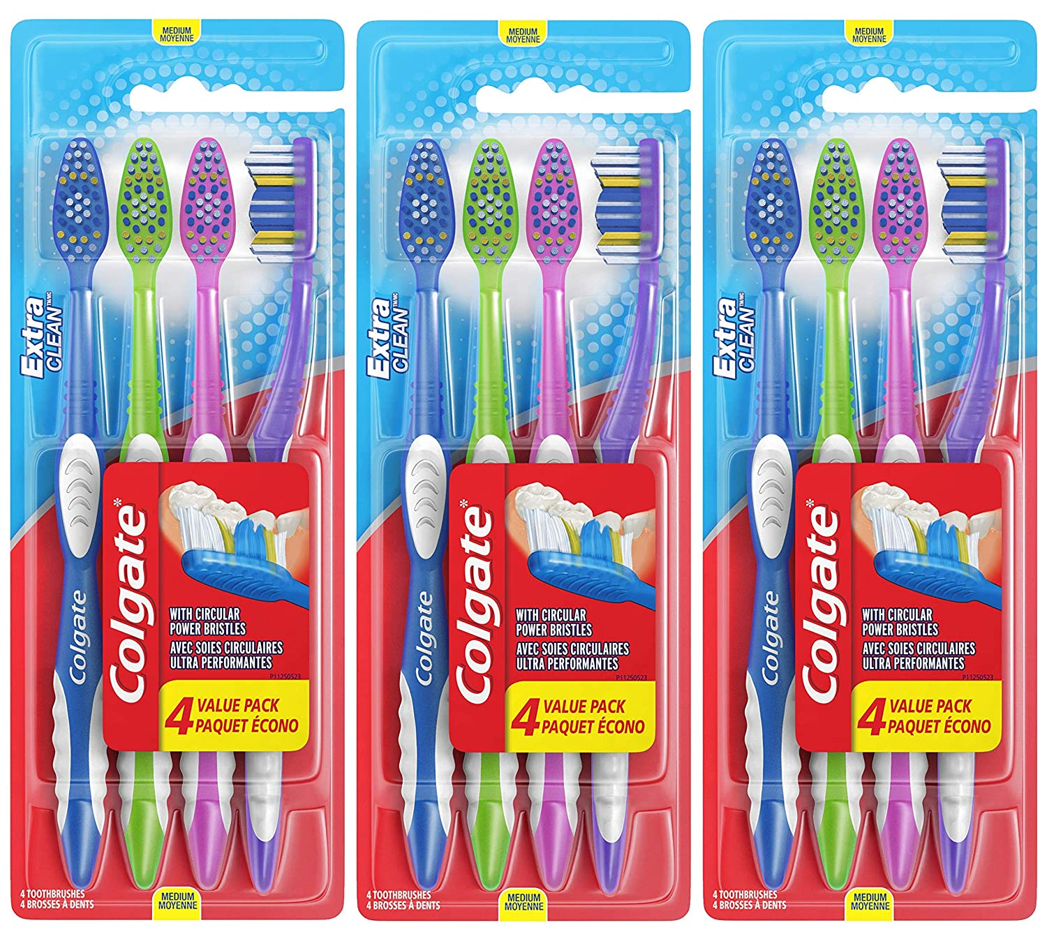 Colgate Extra Clean Full Head Toothbrush, Medium - 6 Count : Beauty